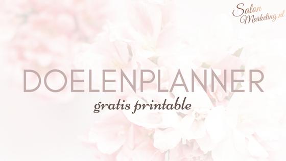 Doelenplanner (gratis printable)