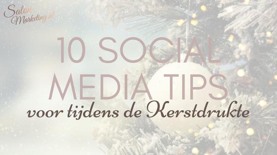 social media tips kerst