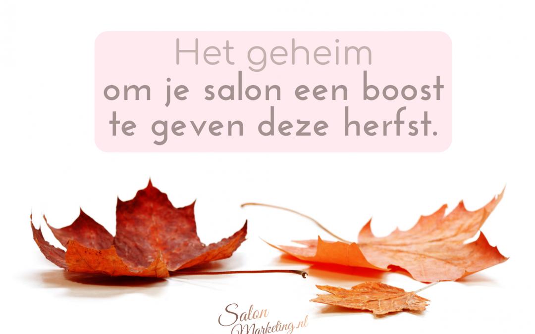Het geheim om je salon een boost te geven deze herfst.