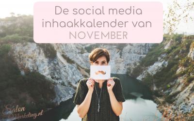 De social media inhaakkalender van november
