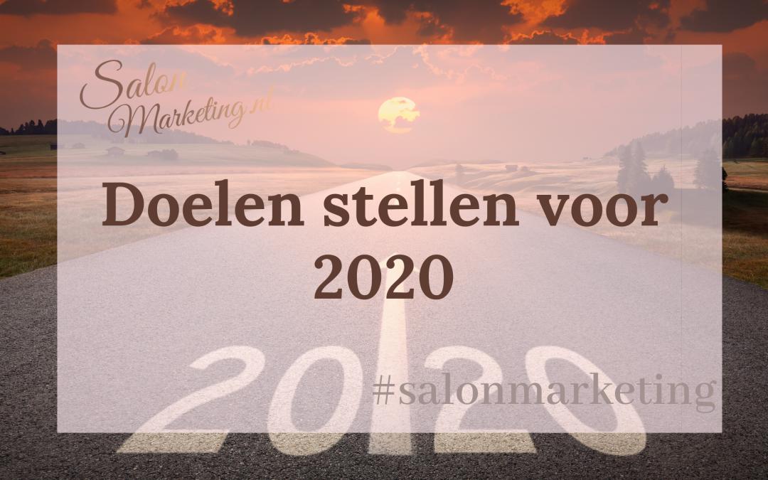 Doelen stellen voor 2020